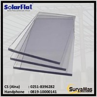 Atap Polycarbonate Solarflat 3 milimeter Bronze Tekstur
