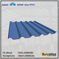 Atap UPVC Amanroof Tebal 12 milimeter Warna Biru