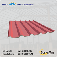 Atap UPVC Amanroof Tebal 12 milimeter Warna Merah