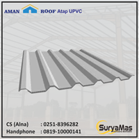 Atap UPVC Amanroof Tebal 12 milimeter Warna Putih