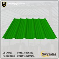 Atap UPVC Avantguard Eff 1050 mm Tebal 2 milimeter Warna Hijau
