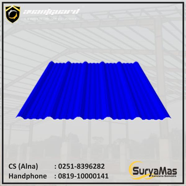 Atap UPVC Avantguard Eff 1050 mm Tebal 2 milimeter Warna Biru