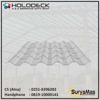 Atap UPVC Holodeck Eff 780 mm Tebal 12 milimeter Warna Putih