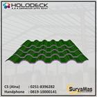 Atap UPVC Holodeck Eff 780 mm Tebal 12 milimeter Warna Hijau 1