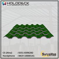 Atap UPVC Holodeck Eff 780 mm Tebal 12 milimeter Warna Hijau