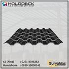 Atap UPVC Holodeck Eff 780 mm Tebal 12 milimeter Warna Hitam 1