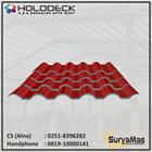 Atap UPVC Holodeck Eff 780 mm Tebal 12 milimeter Warna Merah 1