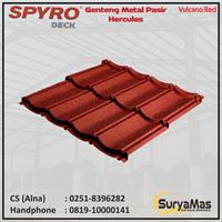 Genteng Metal Pasir Spyro Tipe Hercules Tebal 0.28 mm Warna Vulcano Red