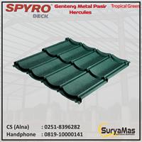 Genteng Metal Pasir Spyro Tipe Hercules Tebal 0.28 mm Warna Tropical Green