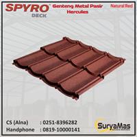 Genteng Metal Pasir Spyro Tipe Hercules Tebal 0.28 mm Warna Natural Red