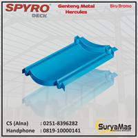 Genteng Metal Spyro Tipe Hercules Tebal 0.23 Warna Biru Bromo