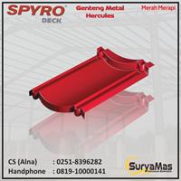 Genteng Metal Spyro Tipe Hercules Tebal 0.23 mm Warna Merah Merapi