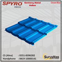 Genteng Metal Spyro Tipe Helios Tebal 0.23 mm Warna Ocean Blue