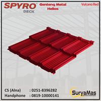 Genteng Metal Spyro Tipe Helios Tebal 0.23 mm Warna Vulcano Red