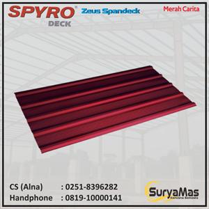 Dari Atap Spandek Spyro Tipe Zeus Tebal 0.30 mm Warna Merah Carita 0