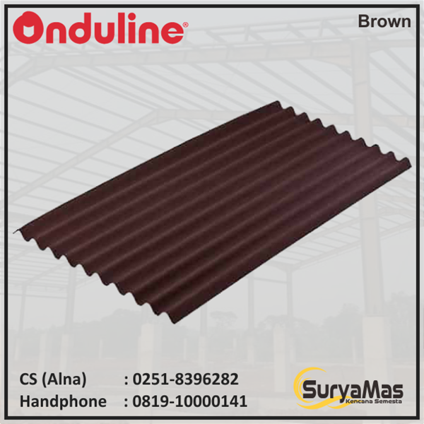 Atap Bitumen Onduline Classic Tebal 3 milimeter Warna Cokelat