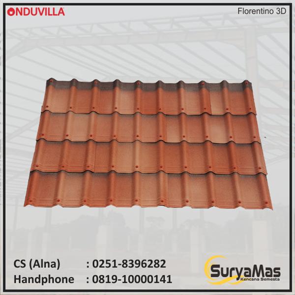 Atap Bitumen Onduvilla Tebal 3 milimeter Warna Florentino 3D