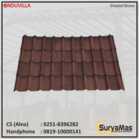Atap Bitumen Onduvilla Tebal 3 milimeter Warna Shaded Brown