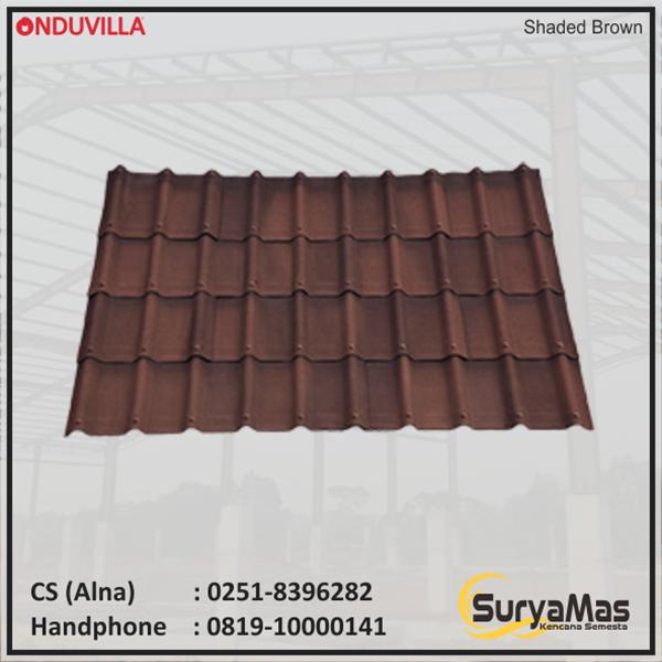 Atap Bitumen Onduvilla Tebal 3 milimeter Warna Shaded Brown