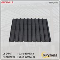 Atap Bitumen Onduvilla Tebal 3 milimeter Warna Ebony Black