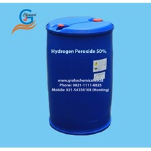 Hydrogen Peroxide 50% (Packing Drum Plastik)