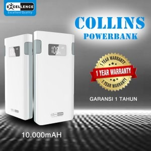 Dari Power Bank Excellence Collins 10000Mah  0