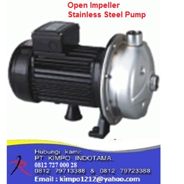 Open Impeller Pompa Stainless Steel