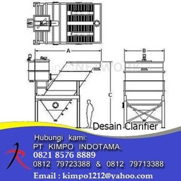 Pabrikasi Clarifier Lamella