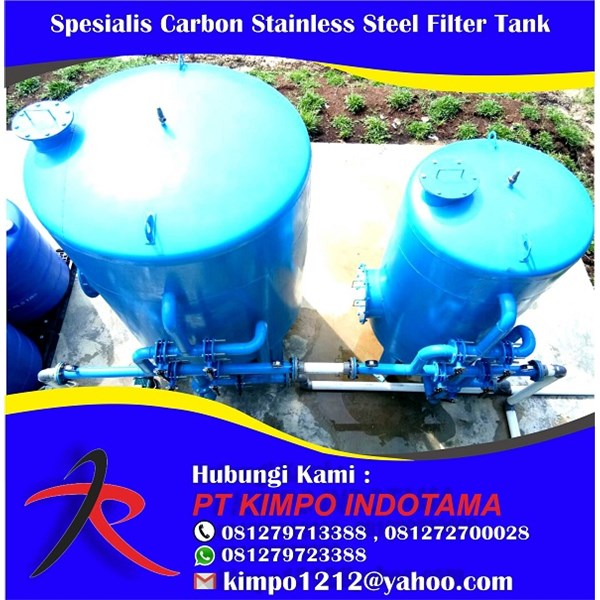 Spesialis Carbon Stainless Steel Filter Tank