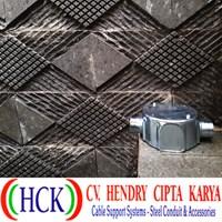 Circular Surface Box Atau Tee Dost Cabang 2 Steel (Type G) Terdapat DRAT