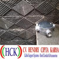 Circular Surface Box Atau Tee Dost Cabang 4 Alumunium (Type G)