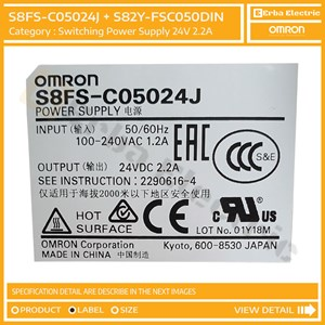Dari Switching Power Supply SMPS 50W 24v 2.2A Omron Original S8FS-C05024J 4