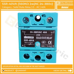 From Solid State Relay SSR 40A 560 Ohm 380v AC Shemsco Taiwan SSR-40VA Exclude Heatsink 0