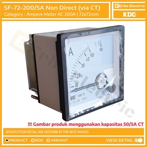 Dari Ampere Meter 72mm 200A AC via CT Ratio 5A Alat Ukur Tegangan KDE FORT 72x72 mm 0