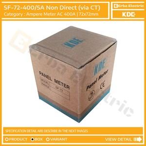 From Ampere Meter 72mm 400A AC via CT Ratio 5A Alat Ukur Tegangan KDE FORT 72x72 mm 4