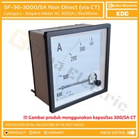 Ampere Meter 96mm 3000A AC via CT Ratio 5A Alat Ukur Tegangan KDE FORT 96x96 mm