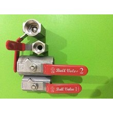 jual 1 piece ball valve stainless steel