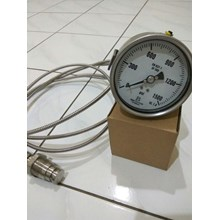 pressure gauge diaphragm seal with cappilary