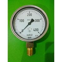 Jual pressure gauge wika 400 mmH2O 2