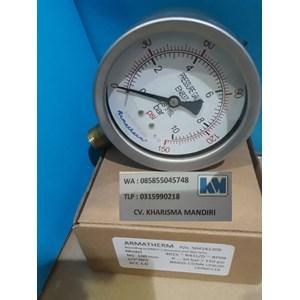 Pressure gauge 10 Bar stainless brass