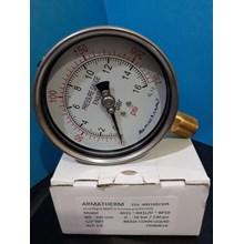 pressure gauge stainless brass 16 bar
