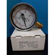 Jual pressure gauge stainless brass 25 bar