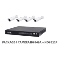 Package Vivotek 4 IP Camera IB8369A+ND8322P