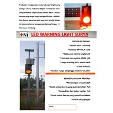 paket led warning light tenaga surya