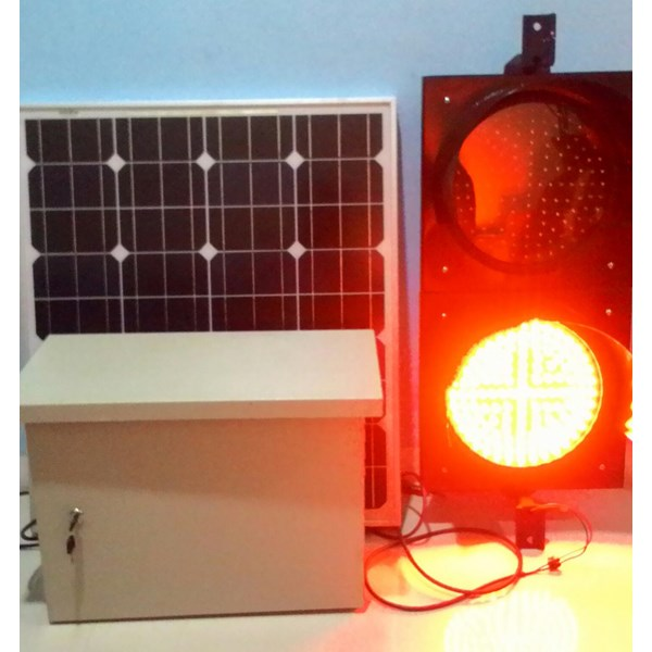 paket led warning light tenaga surya