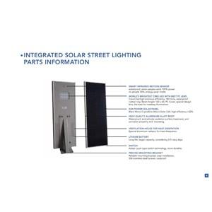 Lampu Solar jalan all in one 40Watt
