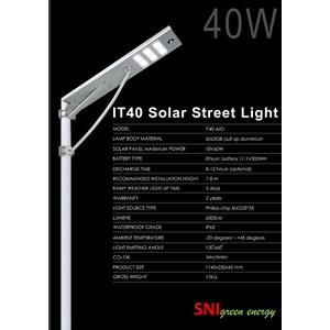 Lampu jalan Surya all in one 40Watt