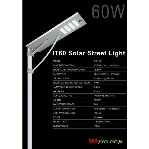 Street light AIO 60 Watt