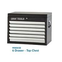 6 DRAWER TOP CHEST MODEL 99806SB - LEMARI TOOLS MEREK GRAY TOOLS