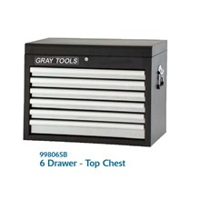 6 DRAWER TOP CHEST MODEL 99806SB - LEMARI TOOLS MEREK GRAY TOOLS